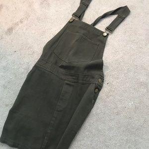 Olive green color overalls